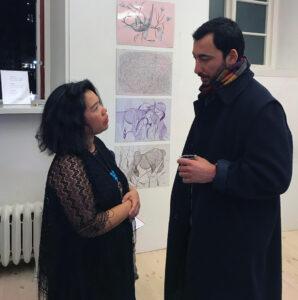 MarJoJe and Mostafa Hosseini discussing art and mental health.